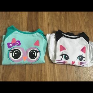 2 long sleeve shirts in size 4t